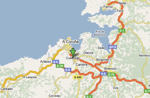 Encontrar Culleredo a través de los mapas de Google